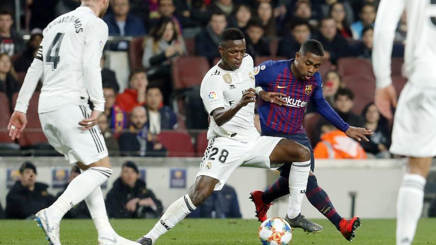 Real e Barça se enfrentam amanhã pela Copa do Rei e sábado pelo Campeonato Espanhol - Pau Barrena / AFP
