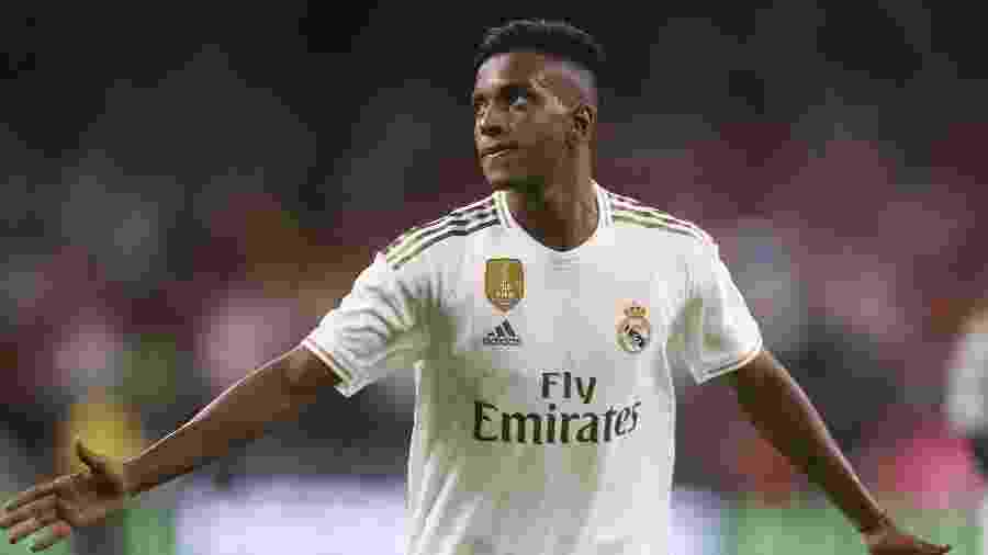 Rodrygo comemora gol pelo Real Madrid  - Thomas B. Shea-USA TODAY