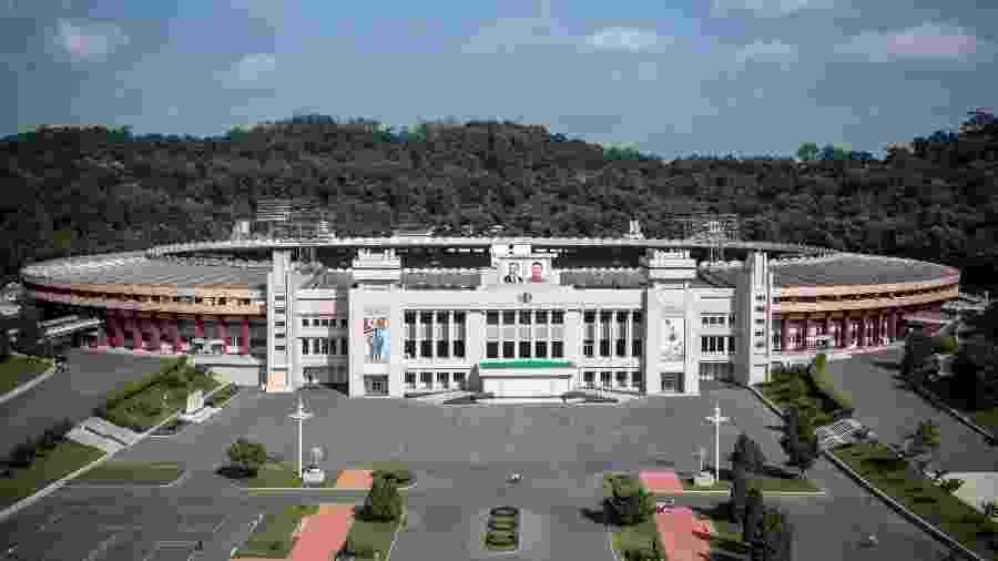 Partida deve acontecer no estádio Kim Il Sung; será primeiro jogo da Coreia do Sul no país vizinho desde 1990 - Carl Court/Getty Images