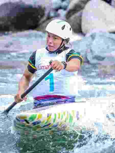 Ana Sátila, nos Jogos Pan-Americanos de Lima; Atleta levou o ouro na Copa do Mundo de Canoagem - Pedro Ramos/ rededoesporte.gov.br