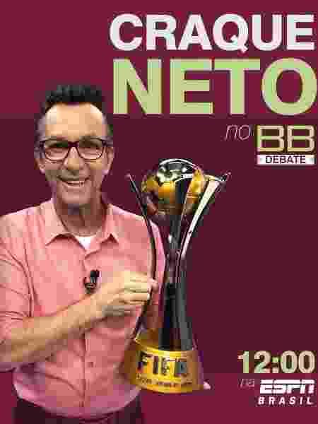 Chamada da participação de Neto no Bate-Bola Debate - Reprodução