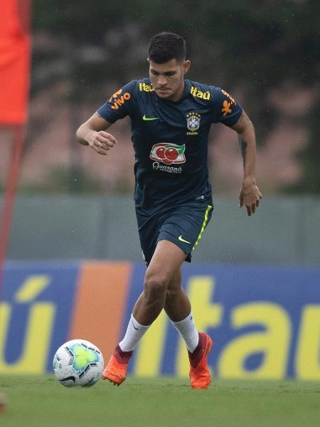 O volante Bruno Guimarães, da seleção brasileira olimpica - Lucas Figueiredo/CBF