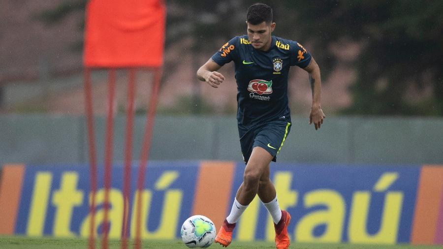 O volante Bruno Guimarães, da seleção brasileira - Lucas Figueiredo/CBF