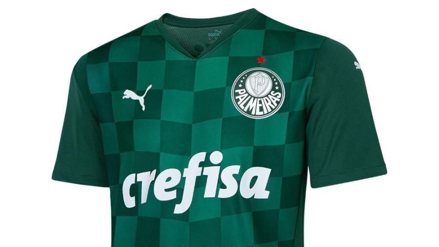 Nova camisa do Palmeiras para a temporada 2021/22 - Reprodução/Palmeiras Store