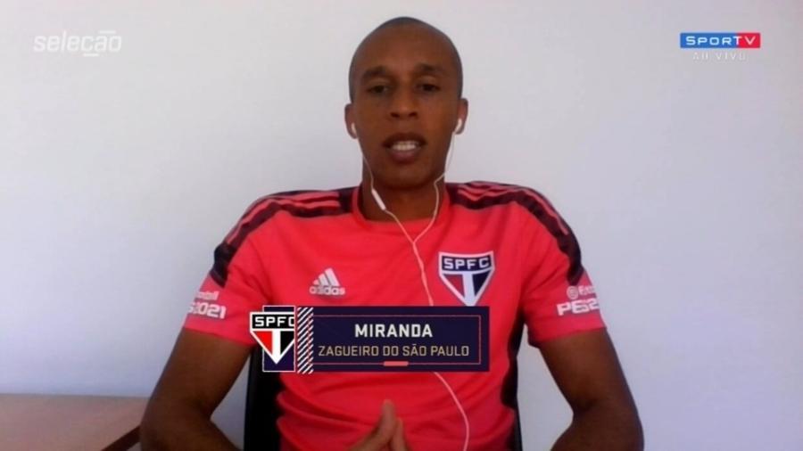 Miranda destaca peso do título do Campeonato Paulista e projeta novas conquistas - Reprodução/SporTV