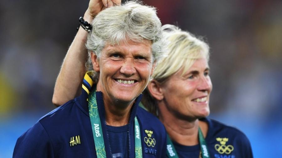 Pia Sundhage dirigiu a seleção sueca entre 2012 e 2017 - Divulgação