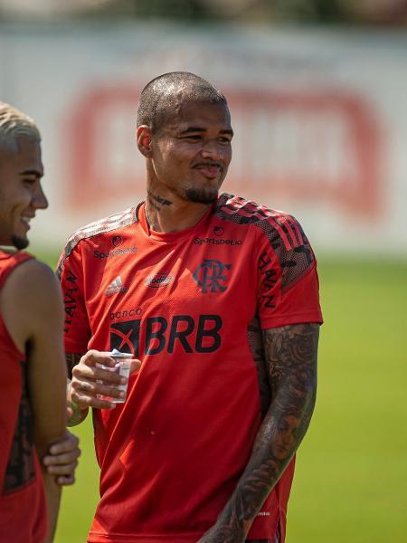 Kenedy e Andreas em treino no Flamengo - Alexandre Vidal/Flamengo