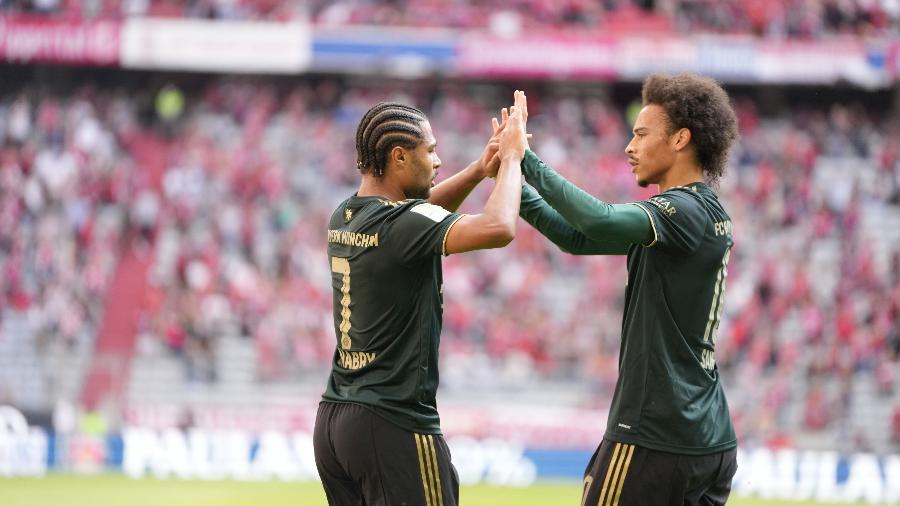 Gnabry e Sané marcaram na vitória do Bayern de Munique sobre o Bochum pelo Campeonato Alemão - Reprodução/Twitter @FCBayern