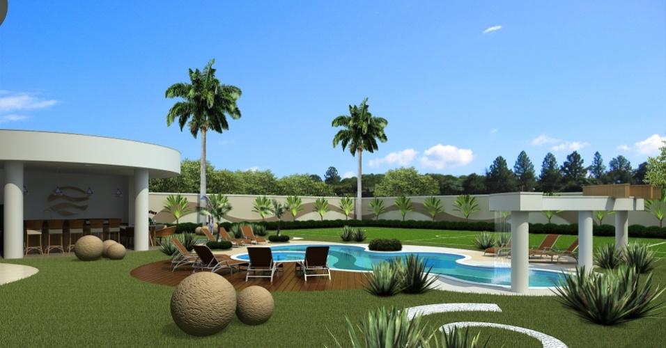 Projeto da casa do brasileiro Ismaily que está sendo construída no interior de Mato Grosso do Sul