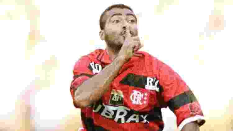 Romário marcou 45 gols na primeira temporada pelo Flamengo e atingiu 204 gols até o fim de 1999 - Reuters