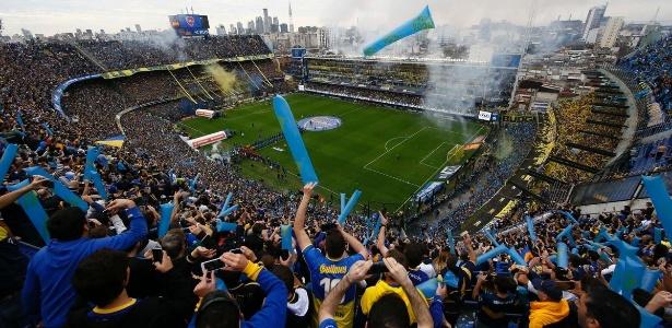 Estádio do Boca Juniors estará lotado para o primeiro duelo das quartas contra o Cruzeiro - Divulgação/Boca Juniors