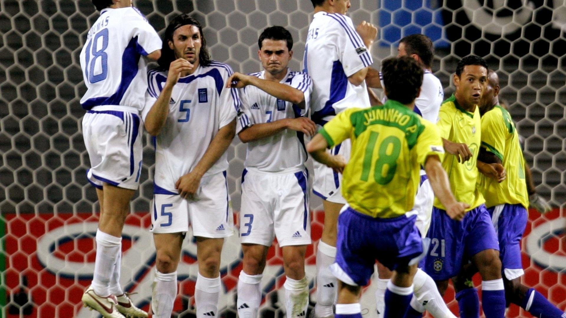 Juninho Pernambucano durante a Copa das Confederações de 2005