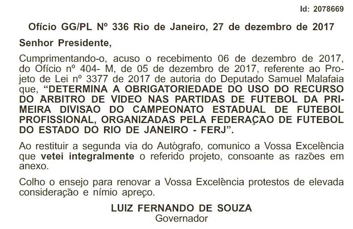 Rio de Janeiro árbitro de vídeo