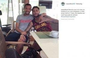 Neymar aparece em foto com Nenê