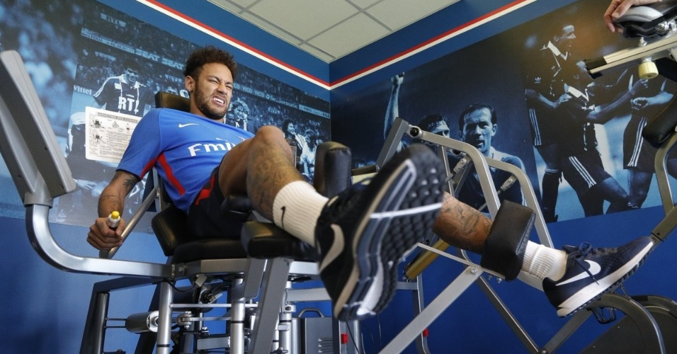 Neymar PSG treinamento