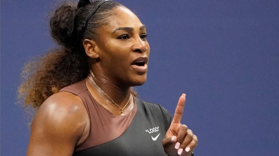 Serena Williams discute com árbitro durante final do Aberto dos EUA - Robert Deutsch/USA TODAY Sports