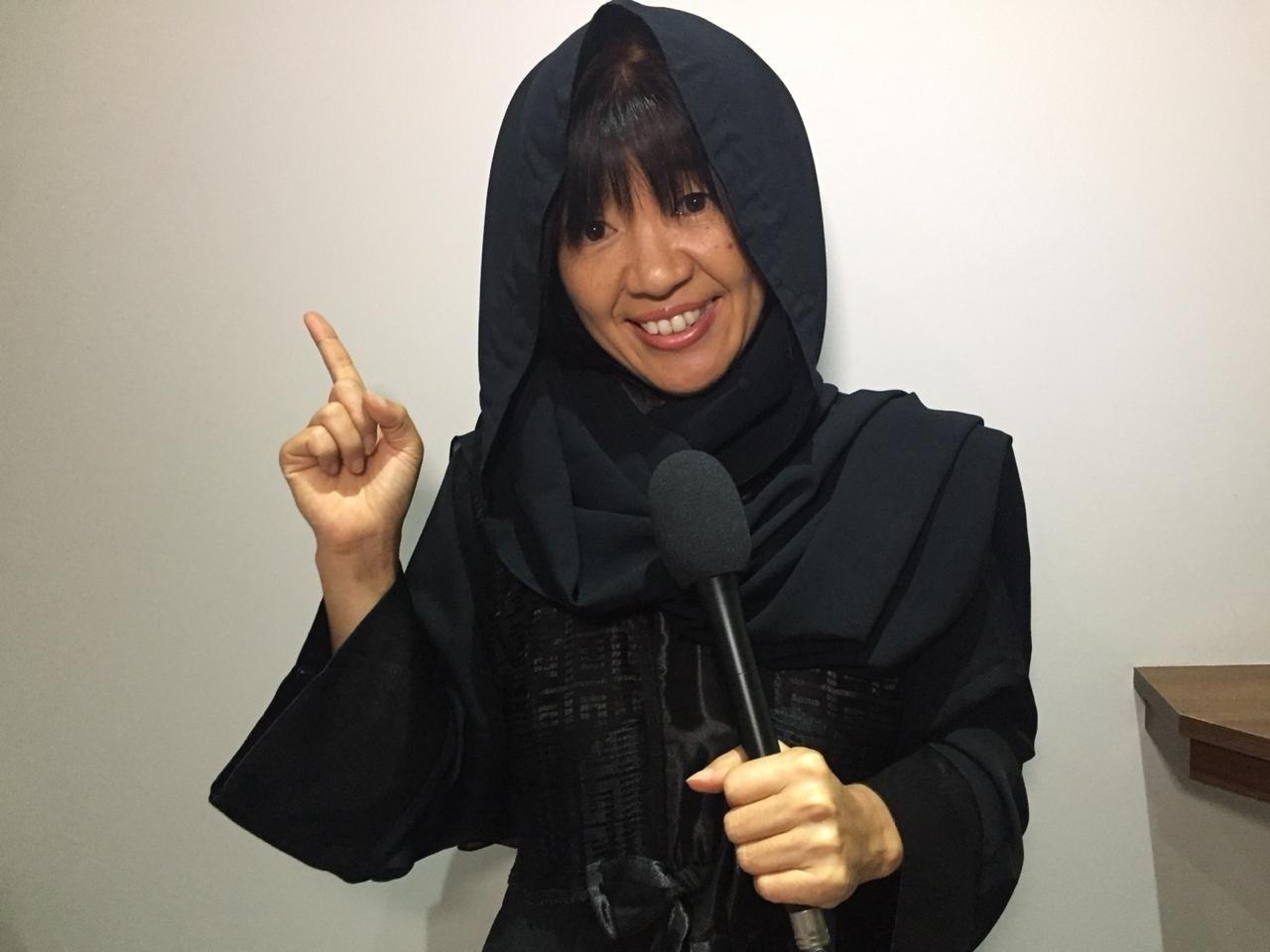 Kiyomi Nakamura jornalista japonesa seleção burca horizontal