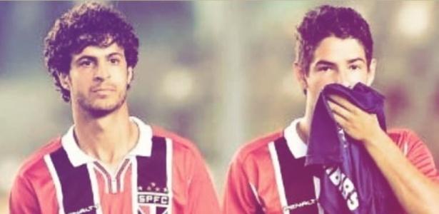Alexandre Pato e Hudson jogaram juntos no São Paulo em 2014 - Instagram/Pato