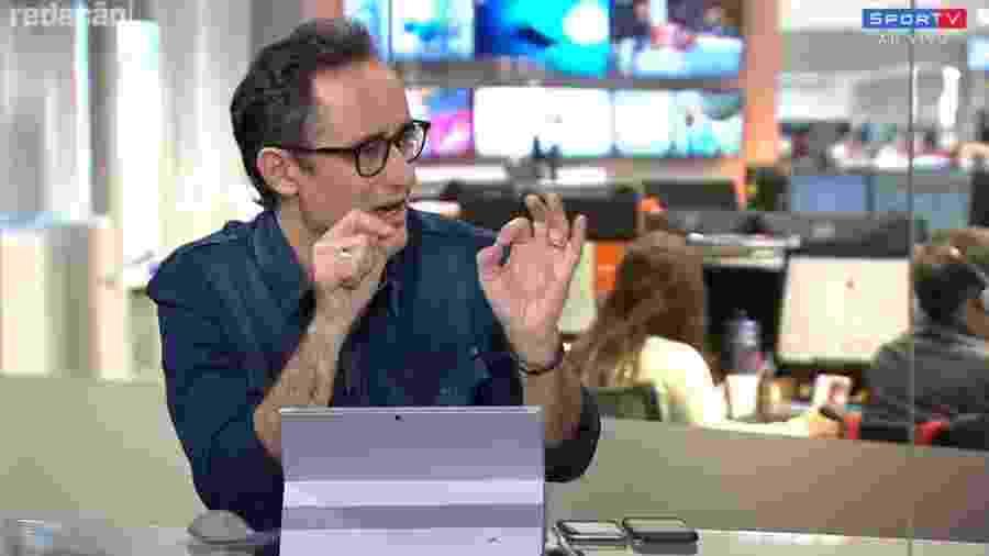 Marcelo Barreto no programa Redação SporTV  - Reprodução/SporTV