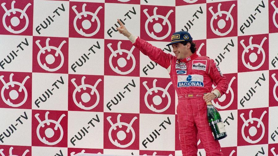 Ayrton Senna correu pela McLaren com contrato por GP em 1993 - Pascal Rondeau/Allsport/Getty Images