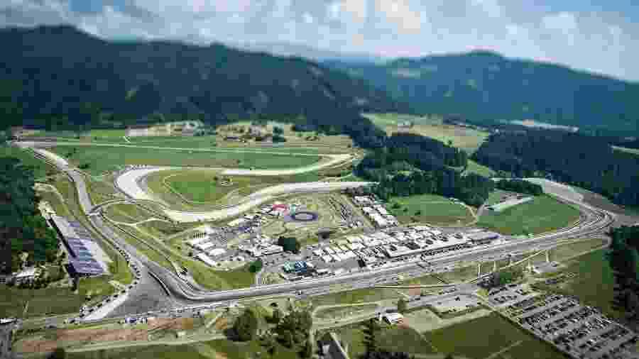 O Red Bull Ring fica no estado da Estíria, na Áustria - Divulgação/Red Bull Ring