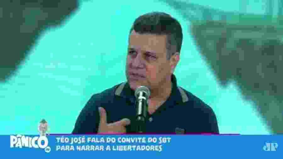 Téo José afirmou que o SBT planeja utilizar nomes da casa para comentar os jogos da Libertadores - Reprodução/Rádio Jovem Pan