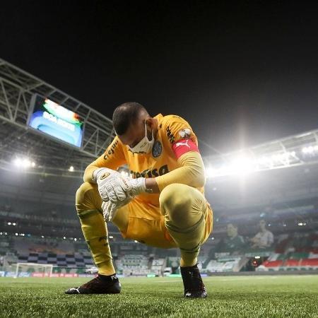 Weverton, minutos depois da classificação do Palmeiras para a final da Libertadores - Staff Images/Conmebol