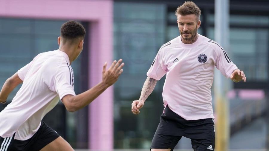 David Beckham participa de treino com os jogadores do Inter Miami CF - Divulgação / Inter Miami CF
