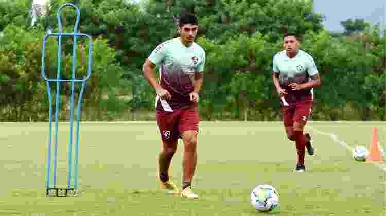 Michel Araújo e Fernando Pacheco em treinamento do Fluminense - Mailson Santana / Fluminense FC - Mailson Santana / Fluminense FC