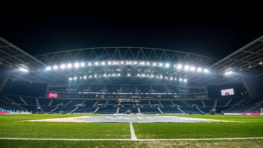 Parte interna do estádio do Dragão, palco da final da Liga dos Campeões 2020/21 - Reprodução/TwitterUEFA