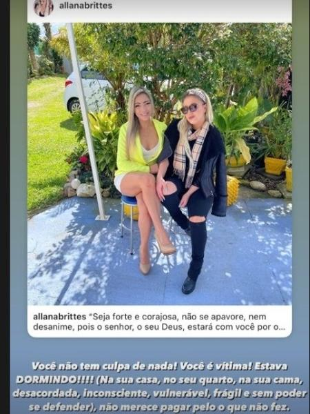 Allana Brittes parte em defesa de Cris Brittes - Instagram