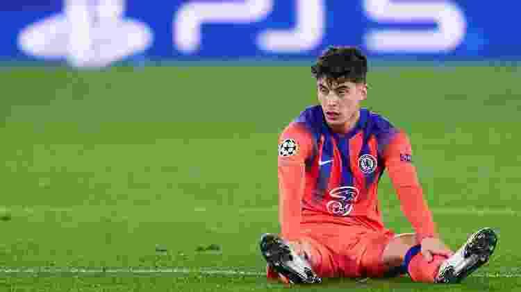 Kai Havertz, durante a partida entre Chelsea e Sevilla - Quality Sport Images/Getty Images - Quality Sport Images/Getty Images