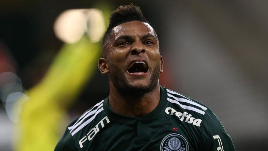 Colombiano Borja comemora gol em sua passagem pelo Palmeiras - Cesar Greco/SE Palmeiras