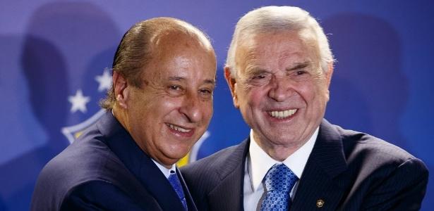 Del Nero e Marin na sede da CBF, no Rio de Janeiro