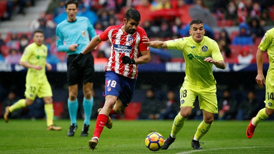 Diego Costa, do Atlético de Madrid, recebeu a oportunidade de atuar pela Espanha nos amistosos - Javier Barbancho