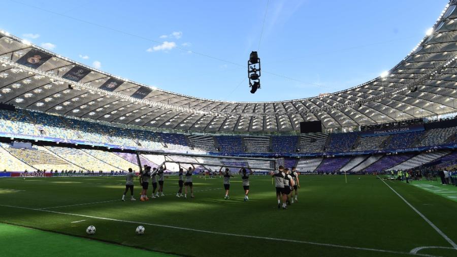 Liverpool treina em Kiev para a final da Liga dos Campeões - AFP PHOTO / Paul ELLIS
