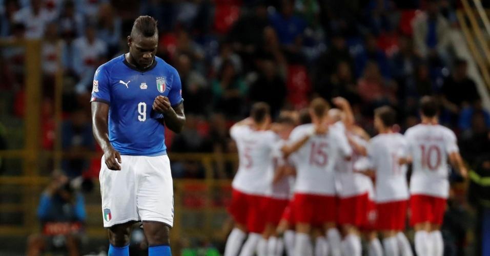 Mario Balotelli, durante Itália x Polônia