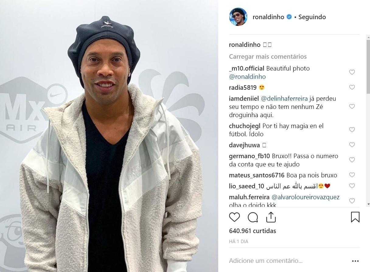Ordem de apreensão do passaporte não impediu Ronaldinho Gaúcho de ir à Europa