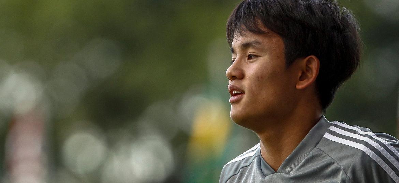 Takefusa Kubo participa de treino da seleção do Japão em São Paulo - Miguel Schincariol/AFP