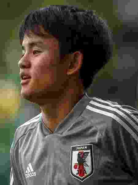 Takefusa Kubo participa de treino da seleção do Japão - Miguel Schincariol/AFP