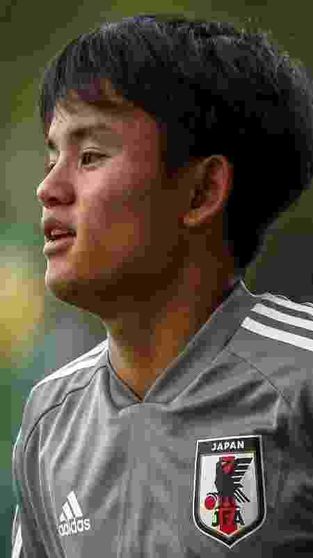 Takefusa Kubo, recém-contratado pelo Real Madrid - Miguel Schincariol/AFP