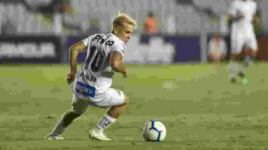Soteldo, camisa 10 do Santos, em atuação contra o Botafogo - Ivan Storti/Santos FC