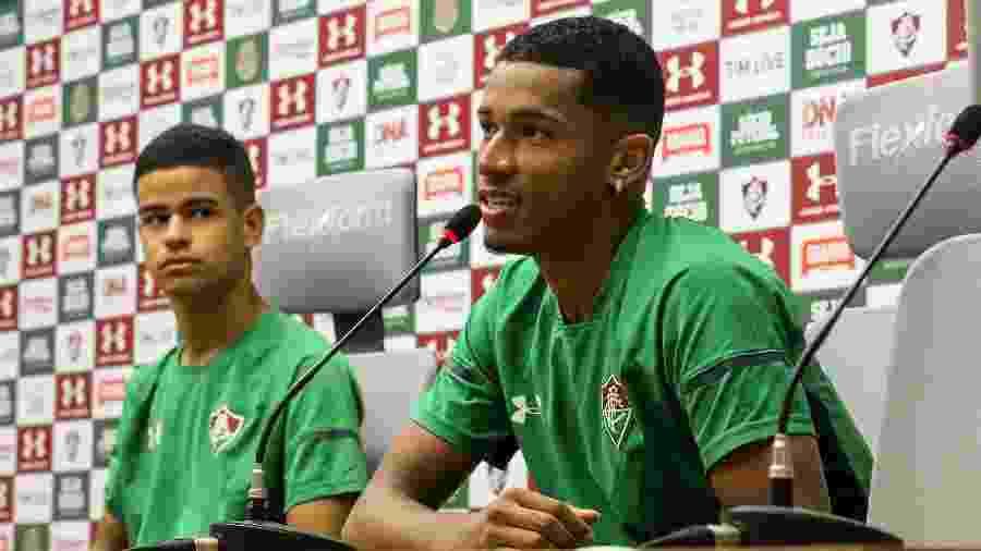 Marcos Paulo e Miguel são duas joias de Xerém - Lucas Merçon/Fluminense FC