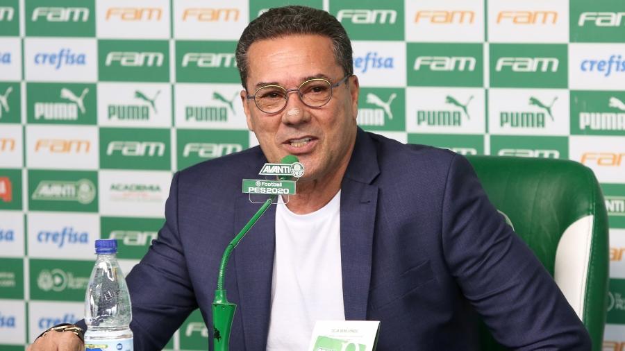 Vanderlei Luxemburgo em sua apresentação ao Palmeiras - Fabio Menotti/Ag. Palmeiras