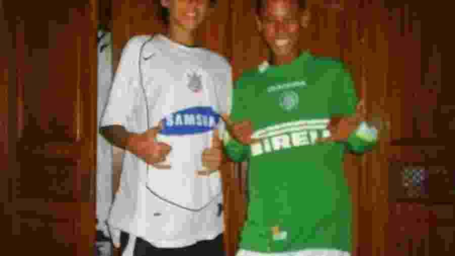 Neymar, na infância, vestindo a camisa do Palmeiras - Reprodução