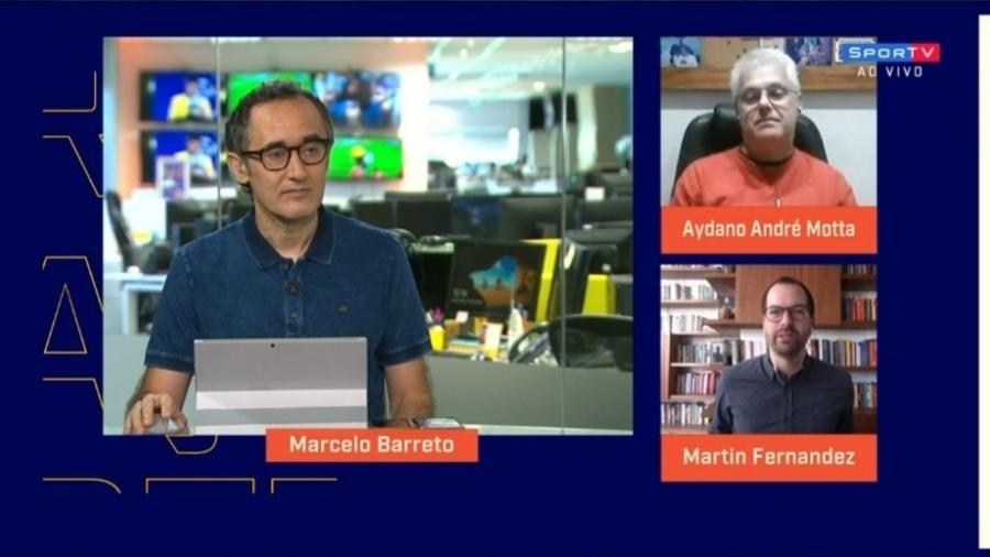 Redação SporTV volta ao estúdio - Reprodução/SporTV