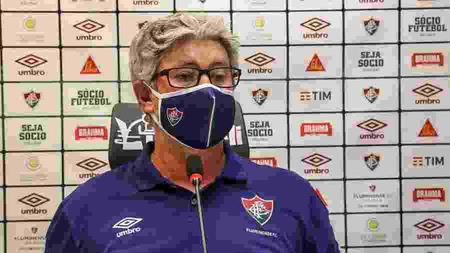 Odair Hellmann falou em oscilação normal após vitória do Fluminense pela Copa do Brasil - Lucas Mercon/Fluminense FC