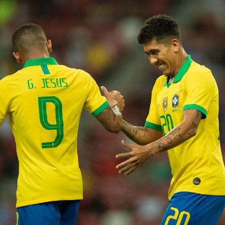 Gabriel Jesus e Firmino teriam dificuldades de jogar pela seleção pelas restrições - Lucas Figueiredo/CBF