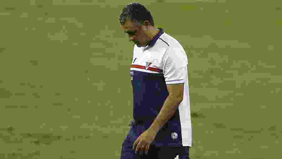 Terceira passagem do treinador pelo clube nordestino teve apenas uma vitória em nove jogos - Bruna Prado/Getty Images