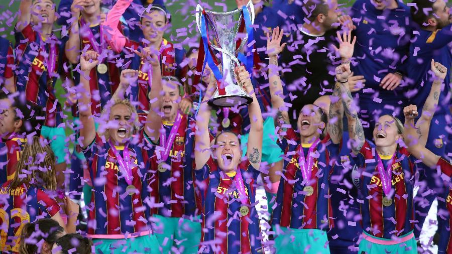 Barcelona comemora primeiro título da Champions League feminina - Reprodução/UEFA Women?s Champions League